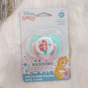 NWT Disney Baby Princess Ariel Pacifier w/cover